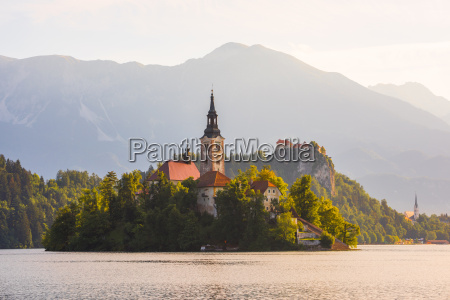 catholic church in bled lake and