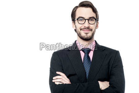 confident businessman with a clever smile