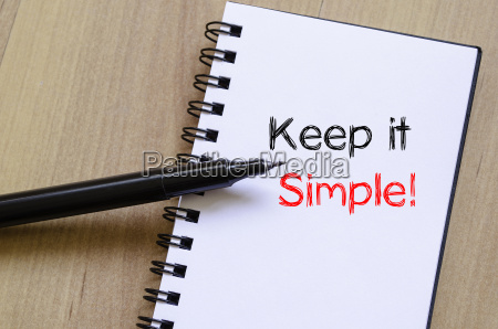 keep it simple write on notebook