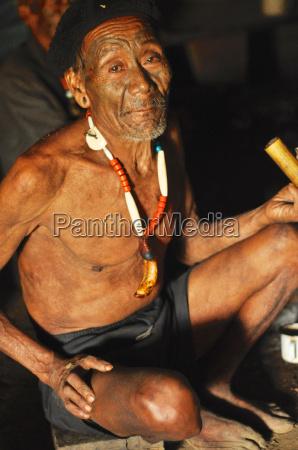 elder man in nagaland india