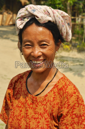 smiling woman in nagaland india