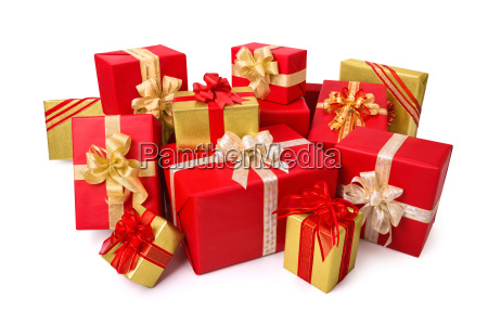 chic gift wraps in red and