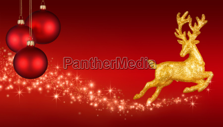 weihnachtlicher background in red and gold