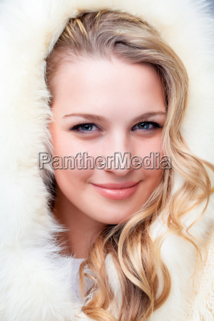 portrait of blond young woman in