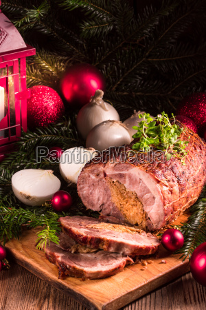 roast with onion stuffing