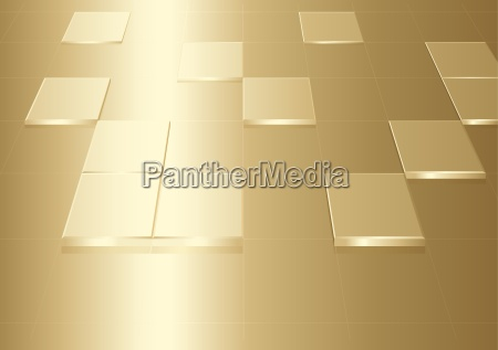 gold background with squares