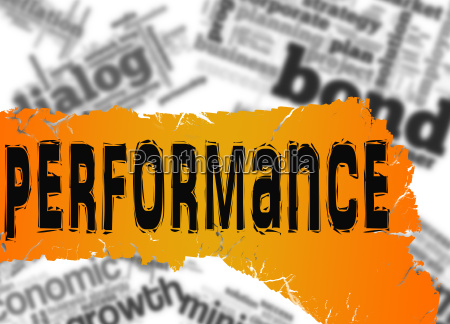 word cloud with performance word on