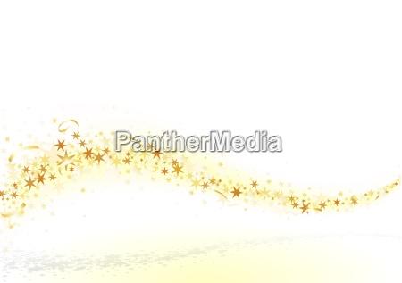 golden stars and confetti
