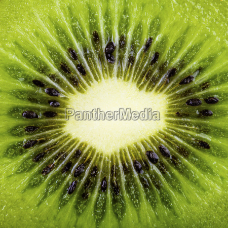 macro shot of a kiwi slice