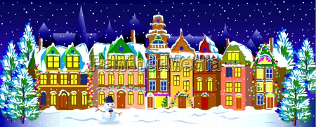 winter night in the old town