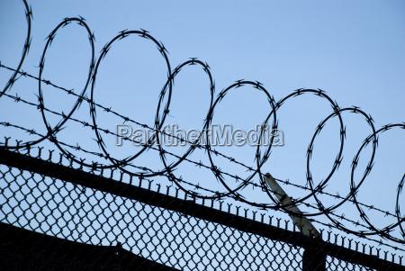 barbed wire danger prison