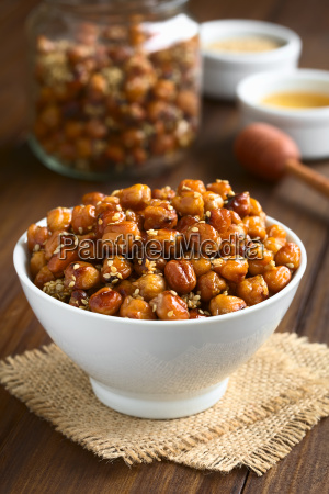 chickpeas roasted with sesame and honey