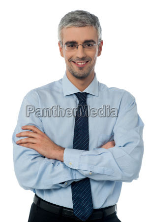 young confident male employee