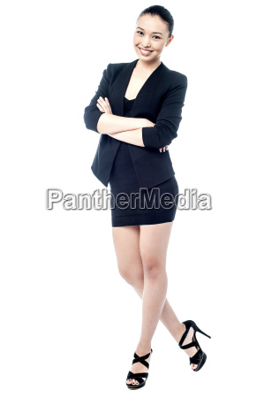 corporate woman posing in style