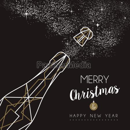 merry christmas happy new year deco