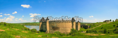 panorama of khotyn fortress on dniester