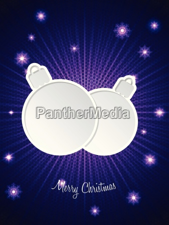 christmas greeting with decoration and bursting
