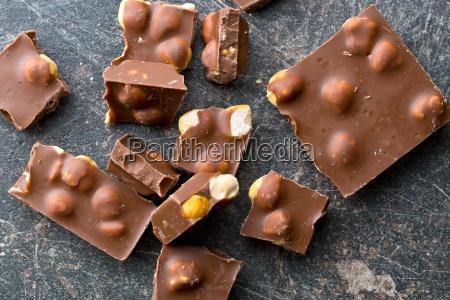 sweet chocolate with hazelnuts