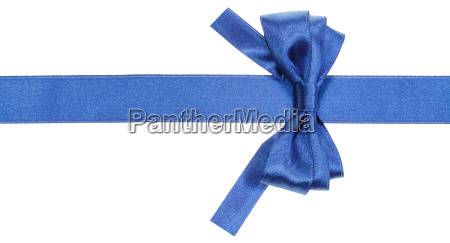 real blue bow with square cut