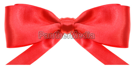 symmetric red bow with horizontal cut