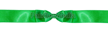 symmetric double bow knot on green