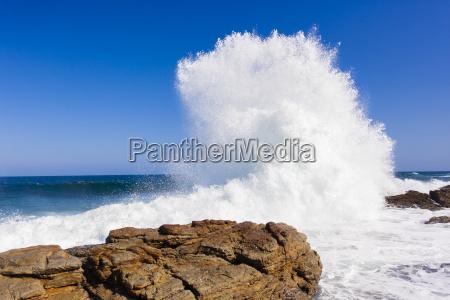 wave exploding