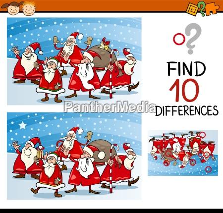christmas differences task for kids