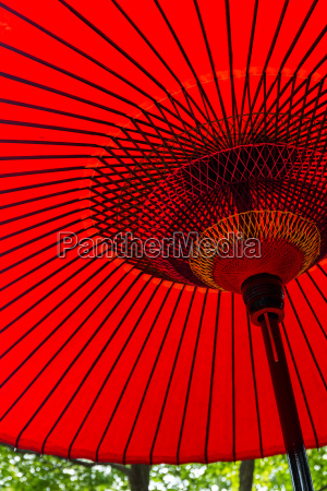 japanese traditional red umbrella