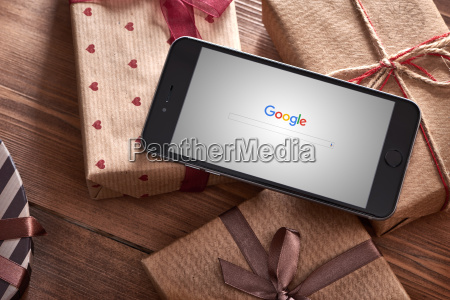 iphone 6 plus among gift boxes
