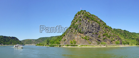 loreley rock at the rhine river