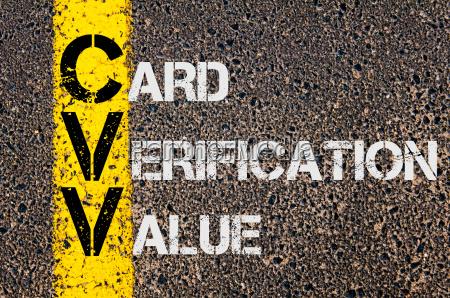 business acronym cvv as card verification