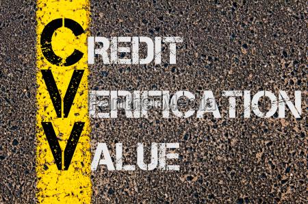 business acronym cvv as credit verification