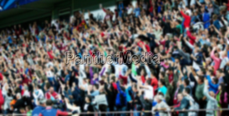 blurred background of crowd of people
