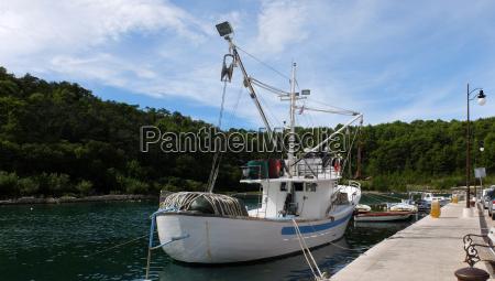 fishing boat fjord mast fishery promenade