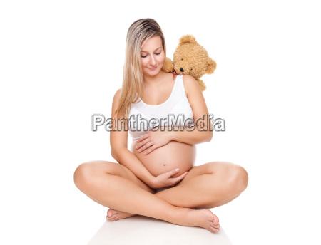 portrait of a pregnant woman sitting
