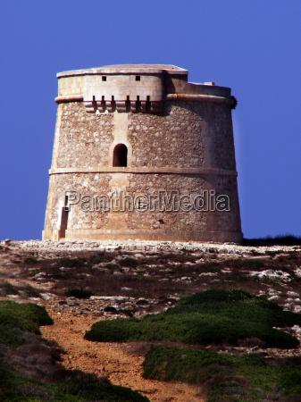 weir tower on menorca