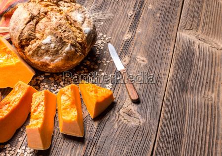 rustic bread with pumpkin