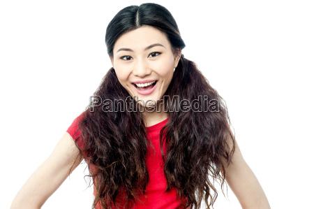 charming beautiful smiling girl