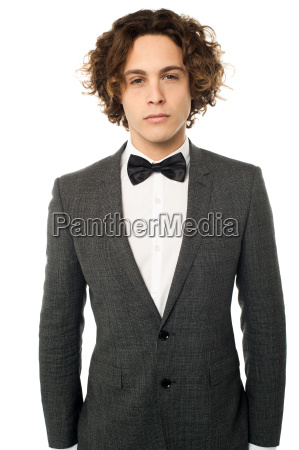 handsome young man in a wedding
