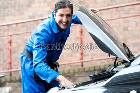 male mechanic at work