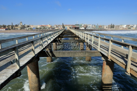 the jetty of swakopmund in namibia
