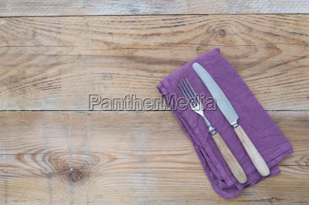 cutlery on wood