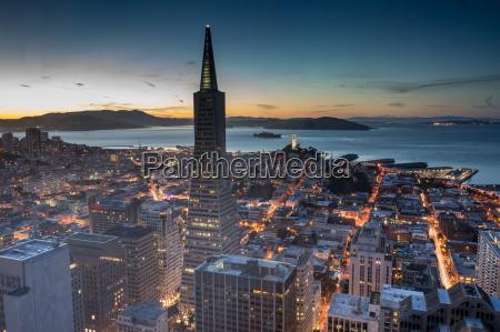 elevated views of san francisco financial