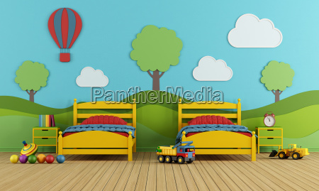 children39s bedroom with two single beds