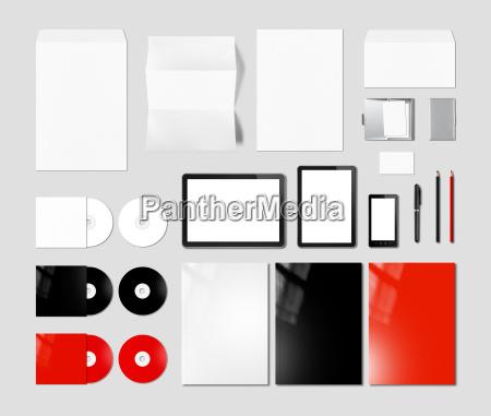 branding identity design mockup template grey