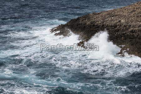 waves on rough mediterranean sea