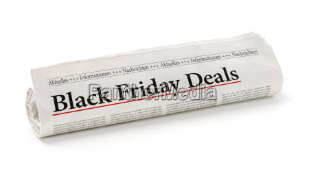 newspaper roll with the heading black