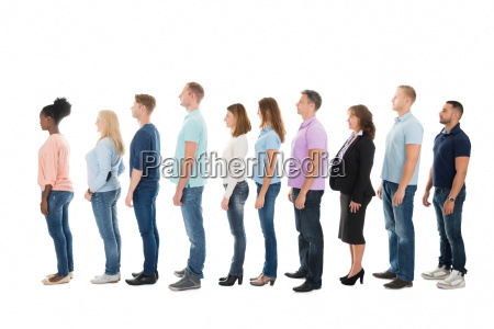 side view of creative business people
