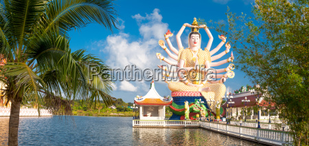 panoramic view of the guanyin statue