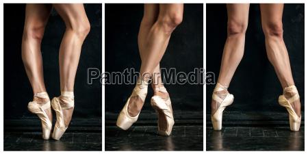 collage of classic ballerina39s legs in